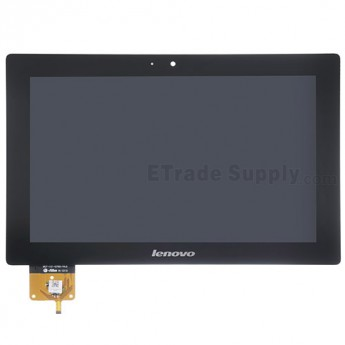 For Lenovo IdeaTab S6000 LCD Screen and Digitizer Assembly Replacement - Black - With Logo - Grade S+