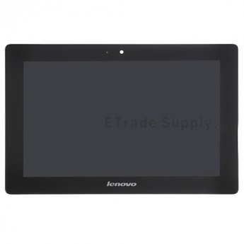 For Lenovo IdeaTab S6000 LCD Screen and Digitizer Assembly With Front Housing Replacement - Black - With Logo - Grade S+