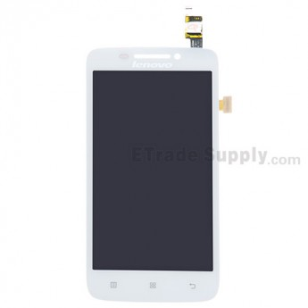 For Lenovo S650 LCD Screen and Digitizer Assembly Replacement - White - With Logo - Grade S+