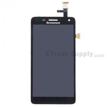 For Lenovo S660 LCD Screen and Digitizer Assembly Replacement - Black - With Logo - Grade S+