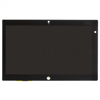 For Lenovo Thinkpad Tablet 2 LCD Screen and Digitizer Assembly Replacement - Black - With Logo - Grade S+