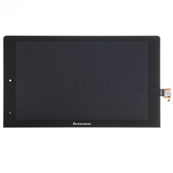 For Lenovo Yoga Tablet 10 B8000 LCD Screen and Digitizer Assembly Replacement - Black - With Logo - Grade S+