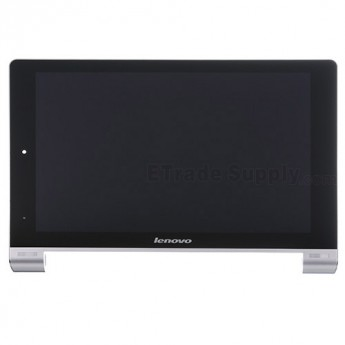 For Lenovo Yoga Tablet 10 B8000 LCD Screen and Digitizer Assembly with Front Housing Replacement - Black - With Logo - Grade S+