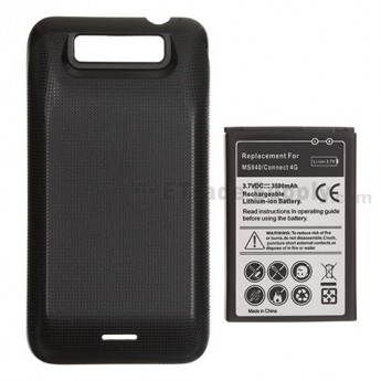 For LG Connect 4G MS840 Extended Life Battery and Over-sized Battery Door (3500 mAh) - Grade S+