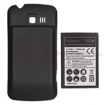 For LG Enlighten VS700 Extended Life Battery and Over-sized Battery Door  Replacement (3500 mAh) - Grade S+