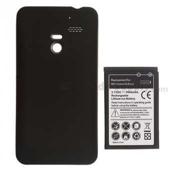 For LG Esteem MS910 Extended Life Battery and Over-sized Battery Door  Replacement (3500 mAh) - Grade S+
