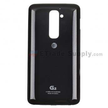 For LG G2 D800 Battery Door Replacement - Black - With Logo - Grade S+