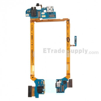 For LG G2 D800 Charging Port Flex Cable Ribbon with Earphone Jack Replacement - Grade S+