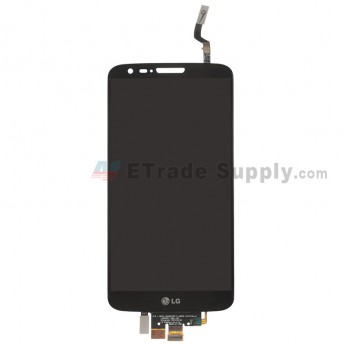 For LG G2 D800 LCD Screen and Digitizer Assembly Replacement - Black - With Logo - Grade S