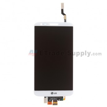 For LG G2 D800 LCD Screen and Digitizer Assembly Replacement - White - With Logo - Grade S