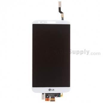 For LG G2 D800 LCD Screen and Digitizer Assembly Replacement - White - With Logo - Grade A