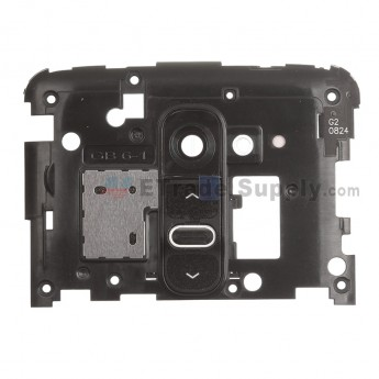 For LG G2 D800/D802 Rear Housing Replacement - Black - Grade S+