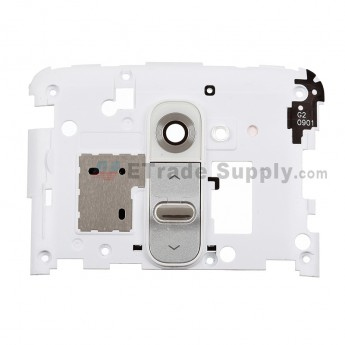 For LG G2 D800/D802 Rear Housing Replacement - White - Grade S+
