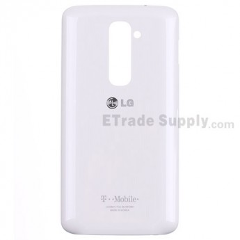 For LG G2 D801 Battery Door Replacement - White - With Logo - Grade S+