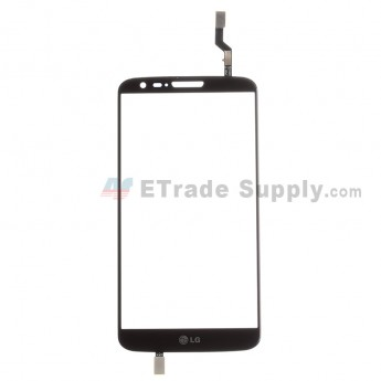 For LG G2 D802 Digitizer Touch Screen Replacement - Black - With Logo - Grade S+