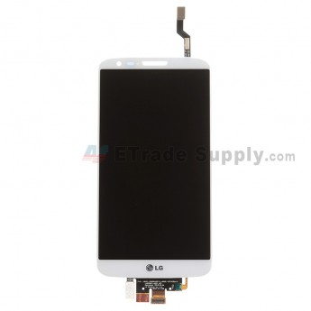 For LG G2 D802 LCD Screen and Digitizer Assembly Replacement - White - With Logo - Grade S
