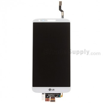 For LG G2 D802 LCD Screen and Digitizer Assembly Replacement - White - With Logo - Grade A
