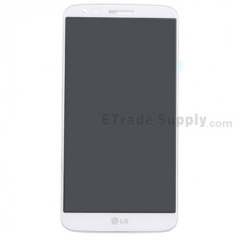 For LG G2 D802 LCD Screen and Digitizer Assembly with Front Housing Replacement - White - With Logo - Grade S+