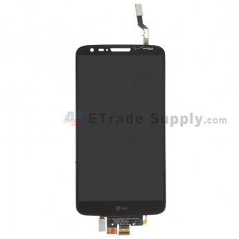For LG G2 VS980 LCD Screen and Digitizer Assembly Replacement - Black - With Logo - Grade S