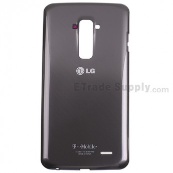 For LG G Flex D959 Battery Door Replacement - Black - With Logo - Grade S+