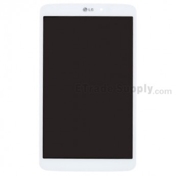 For LG G Pad 8.3 V500 LCD Screen and Digitizer Assembly Replacement - White - With Logo - Grade S+