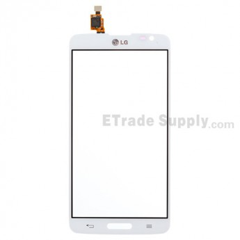 For LG G Pro Lite D680 Digitizer Touch Screen Replacement - White - With Logo - Grade S+