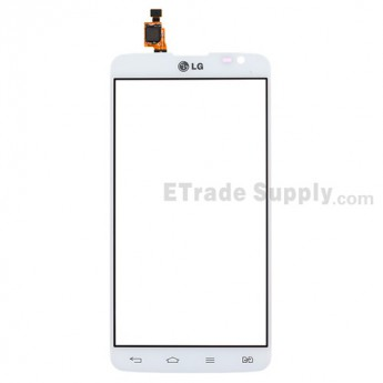 For LG G Pro Lite Dual D686, D685 Digitizer Touch Screen Replacement - White - With Logo - Grade S+