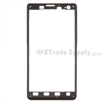 For LG Lucid 2 VS870 Front Housing  Replacement - Black - Grade S+