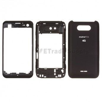 For LG Motion 4G MS770 Housing  Replacement - Black - Grade S+