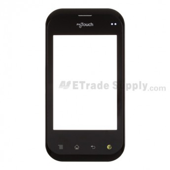 For LG myTouch Q, LG C800 Digitizer Touch Panel with Front Housing  Replacement ,With Logo  - Grade S+