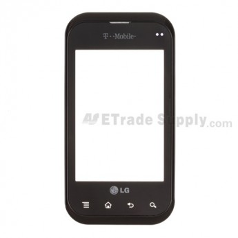 For LG myTouch Q, LG C800 Digitizer Touch Panel with Front Housing Replacement - Grade S+