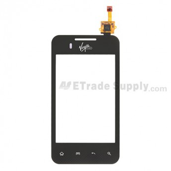 For LG Optimus Elite VM696 Digitizer Touch Screen Replacement - With Logo - Grade S+