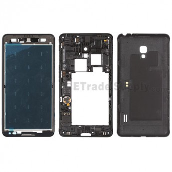 For LG Optimus F6 D500 Housing Replacement - Black - Grade S+