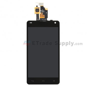 For LG Optimus G E971 LCD Screen and Digitizer Assembly  Replacement - Black - Without Any Logo - Grade S+