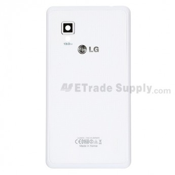 For LG Optimus G E975 Battery Door, White Replacement - Grade S+