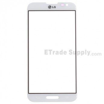 For LG Optimus G Pro E980 Glass Lens  Replacement - White - Grade S+