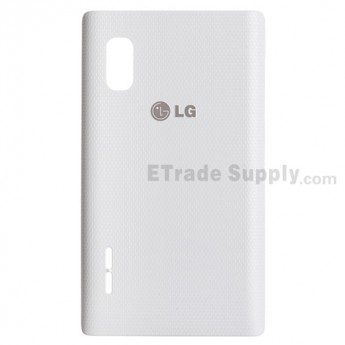 For LG Optimus L5 E610 Battery Door  Replacement ,White, With Logo - Grade S+