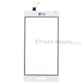 For LG Optimus L9 P760, P768 Digitizer Touch Screen Replacement - White - With Logo - Grade S+