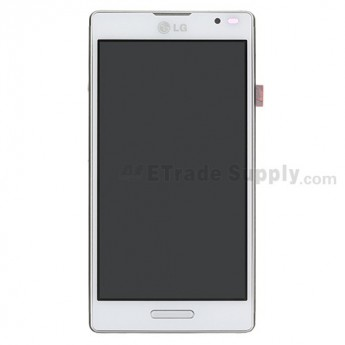 For LG Optimus L9 P760/P768 LCD Screen and Digitizer Assembly with Front Housing Replacement - White - Grade S+