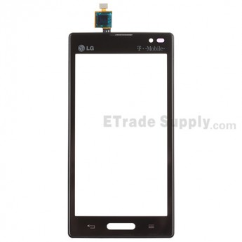 For LG Optimus L9 P769 Digitizer Touch Screen with Front Housing Replacement - Black - With Logo - Grade S+
