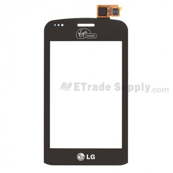 For LG Optimus Slider VM701 Digitizer Touch Screen Replacement - Black - Grade S+