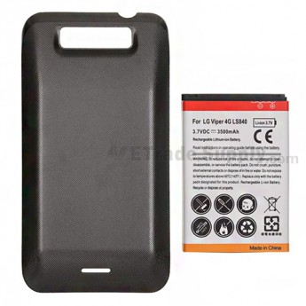 For LG Viper 4G LTE LS840 Extended Life Battery and Over-sized Battery Door  Replacement (3500 mAh)  - Grade S+