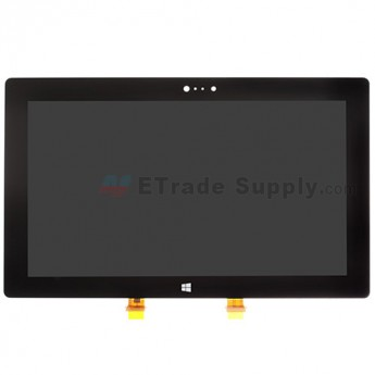 For Microsoft Surface 2 LCD Screen and Digitizer Assembly Replacement - Black - With Logo - Grade S+