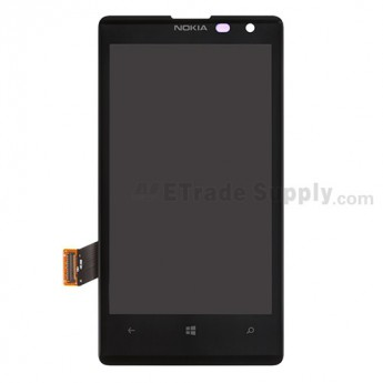 For Nokia Lumia 1020 LCD Screen and Digitizer Assembly Replacement - Black - With Logo - Grade S+