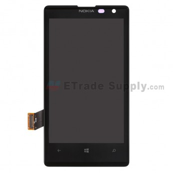 For Nokia Lumia 1020 LCD Screen and Digitizer Assembly Replacement - Black - With Logo - Grade A
