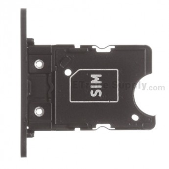 For Nokia Lumia 1020 SIM Card Tray Replacement - Black - Grade S+