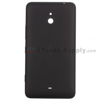 For Nokia Lumia 1320 Battery Door Replacement - Black - With Logo - Grade S+