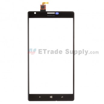 For Nokia Lumia 1520 Digitizer Touch Screen Replacement - Black - With Logo - Grade S+