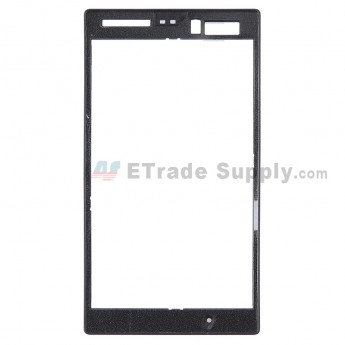 For Nokia Lumia 520 Front Housing Replacement - Black - Grade S+
