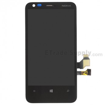 For Nokia Lumia 620 LCD Screen and Digitizer Assembly with Front Housing Replacement - Grade S+